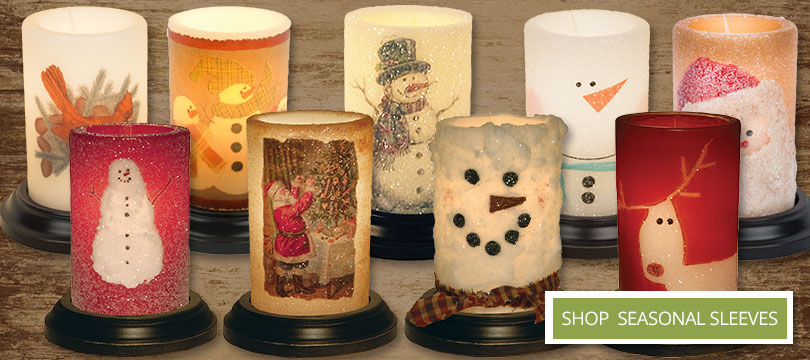 candle sleeves for the Christmas holiday