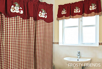 Frosty Friends exclusive shower curtain