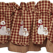 Snow Love Valance Country Village Designs Exclusive