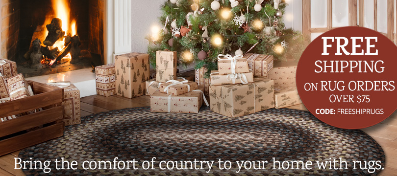 country braided rugs free shipping over $75