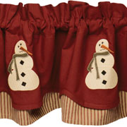 country village exclusive winters past valance