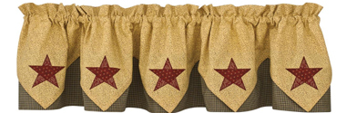 Country Star Point Valance
