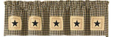 Farmhouse Star Patch Valance