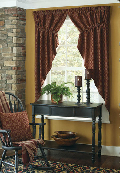 Country Curtains Colonial, Primitive Curtains For Living Room